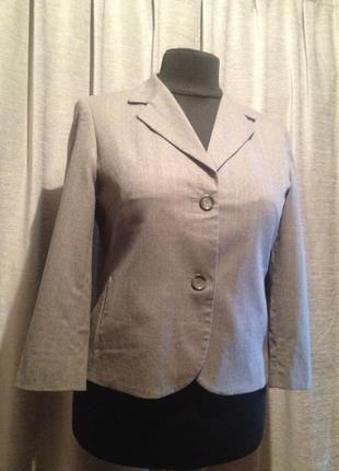 Короткий шерстяной пиджак офис.1055