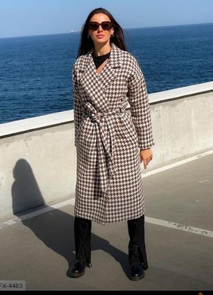 Пальто в клетку , шерстяное пальто , теплое пальто , пальто с ...