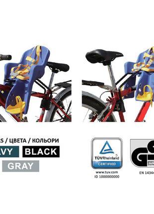 Детское кресло для велосипеда с креплением спереди и ремнями б...