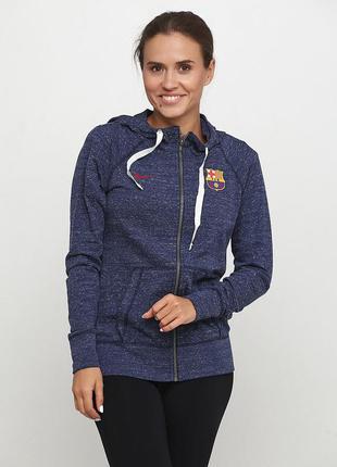 Кофта свитшот худи nike fc barcelona womens sportswear оригина...