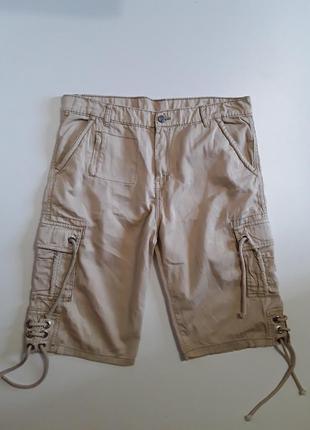 Фирменные хлопковые шорты бриджи 36р