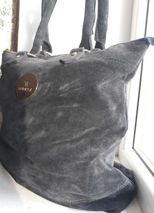 Замшевая сумка - шоппер  varese.