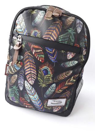 Стильный женский рюкзак, небольшой рюкзак перья