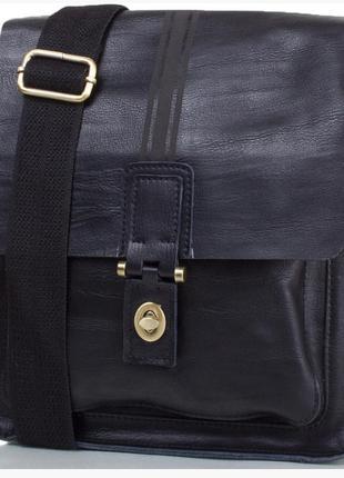 -10%. Мужская кожаная сумка Bally черная (5823)
