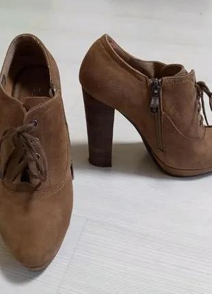 Ботиночки ботинки полусапожки Ботильоны на толстом каблуке