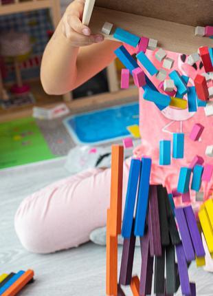 Детская игрушка. Палочки Кюизенера 116 деталей. Эко продукт. 1...