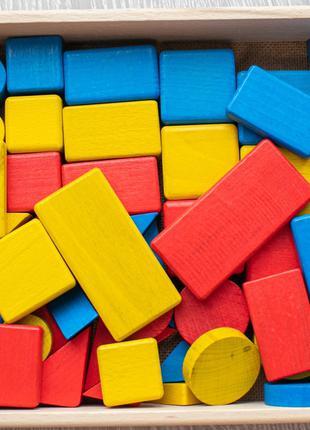 Детская игрушка. Блоки Дьенеша. Эко продукт. 25х20см