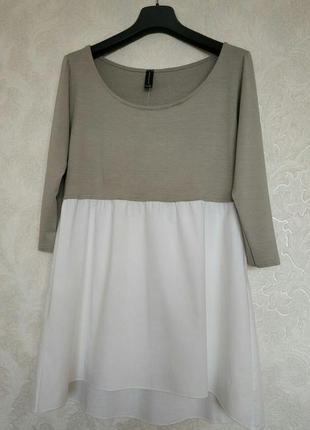 Шикарная блуза туника кофта джемпер итальянского бренда pourmoi