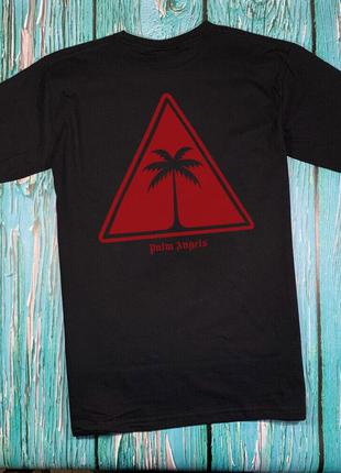 Черная футболка palm angels • футболка палм анджелс • бирки ориг