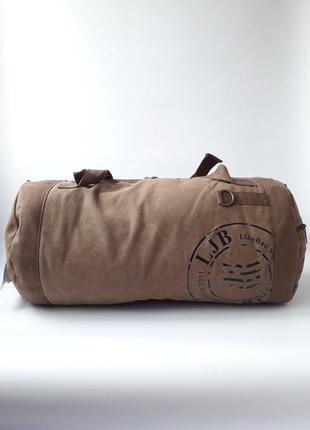 Вместительная сумка-рюкзак, мужская сумка брезент