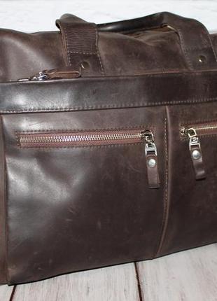 Кожаная сумка для ноутбука,а4 100% натуральная кожа