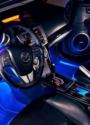 RGB led подсветка с микрофоном для авто
