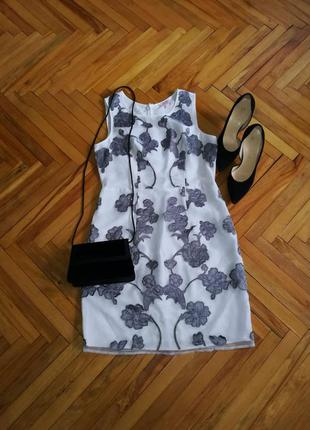 Красивое нарядное платье в цветы