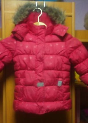 Куртка , зима, внутри флис, palomino.