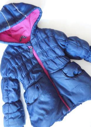 Теплая демисезонная куртка на флисе nutmeg 2-3г