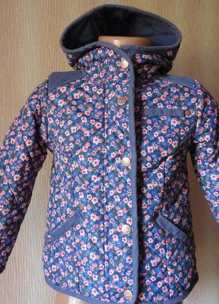 Демисезонная куртка на флисе 2-3 годика