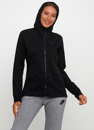 Кофта свитшот худи nike w nsw tch flc hoodie fz оригинал! - 10%