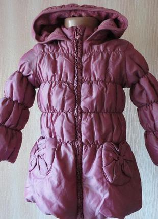 Демисезоная куртка на флисе 2-3г фото