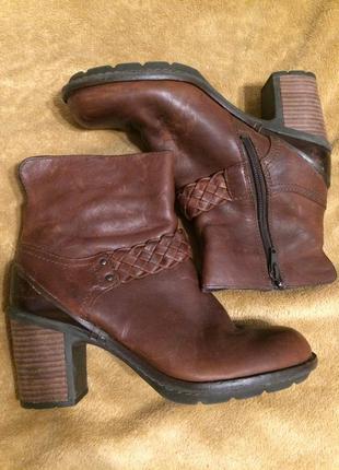 Clarks active air кожаные ботинки ботильоны