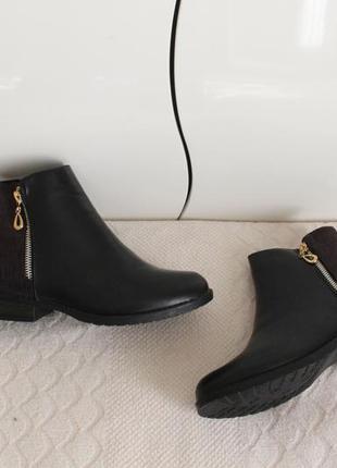 Демисезонные ботильоны, ботинки 37, 40 размера  на низком ходу