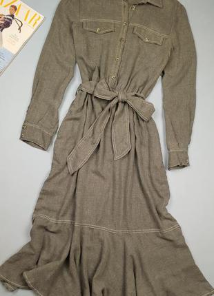 Платье миди zara p.м