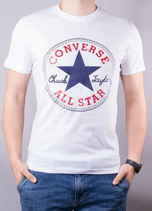 Футболка мужская хлопковая converse белая