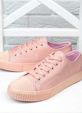 Кеды женские на платформе pink розовые пудра