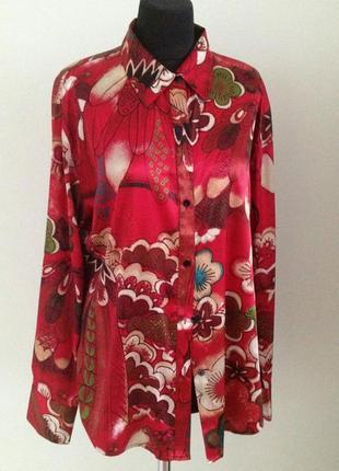 Рубашка (блузка) с цветочным принтом