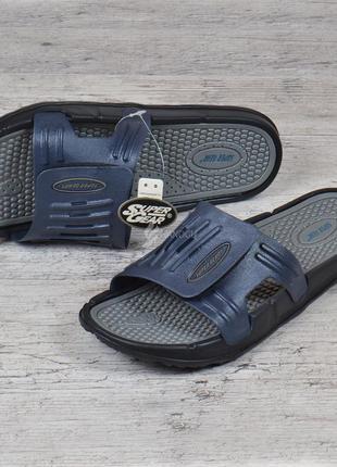 Шлепанцы мужские на липучке super gear темно-синие