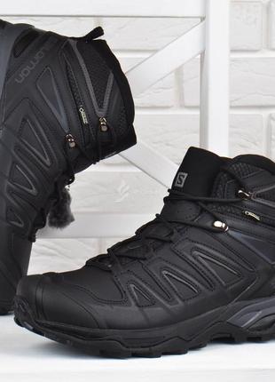 Ботинки мужские зимние кожаные salomon x ultra 3 mid gore-tex ...