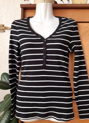 Новый лонгслив -футболка с длинным рукавом в актуальном морско...