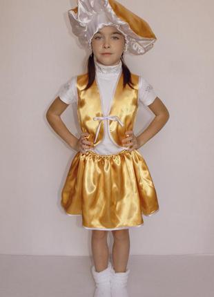 Карнавальный костюм гриб лисичка (девочка)