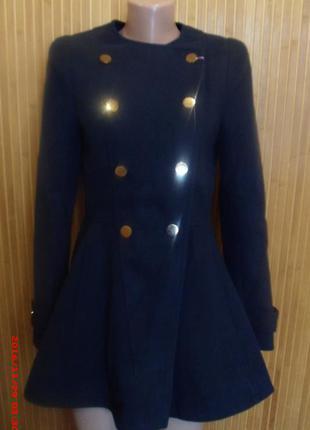 Пальто, полупальто ирис (женское, подростковое) т. синее