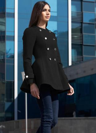 Пальто, полупальто ирис (женское, подростковое) черное