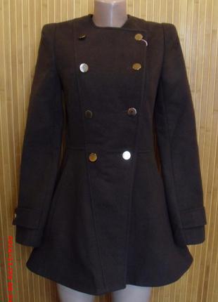 Пальто, полупальто ирис (женское, подростковое) шоколад