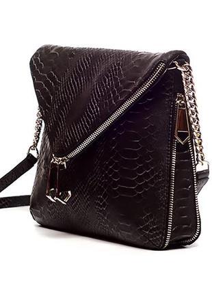 Эффектная сумка кросс-боди, на плечо, натуральная итальянская ...