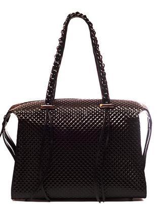 Стильная кожаная деловая сумка женская. лаконичная, всегда уме...