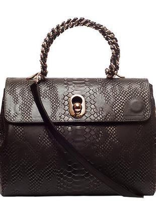 """Универсальная женская сумка, итальянская кожа с тиснением """"ана..."""