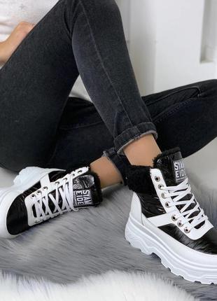 Комфортные зимние спортивные ботинки женские