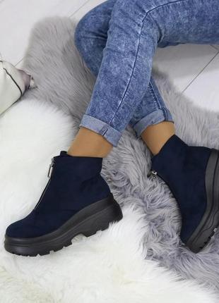 Ботинки на высокой платформе женские