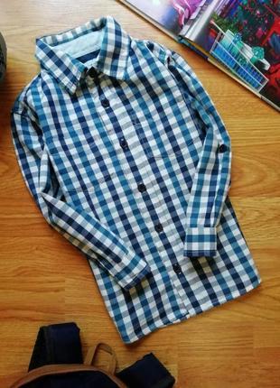 Детская стильная хлопковая рубашка - сорочка для мальчика tu -...
