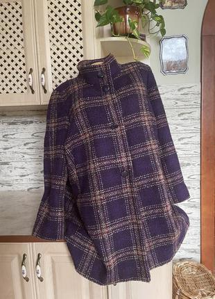 Пальто  полу пальто в клетку большого размера
