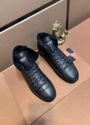 Высокие кроссовки, зимние ботинки ugg winter high top black че...