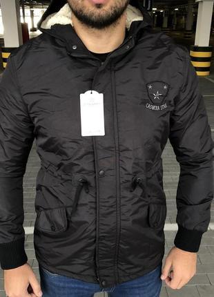 Мужская зимняя куртка парка parka caswera adana black черная