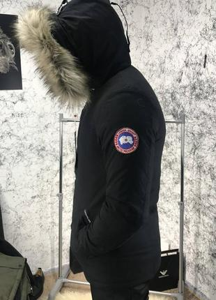 Мужская куртка парка canada goose carson parka military black ...