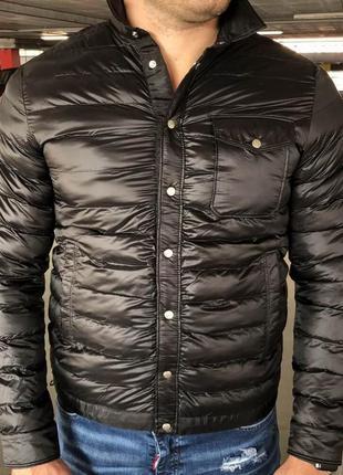 Мужская зимняя куртка moncler caph jacket black черная