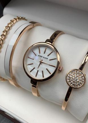 Женский подарочный набор часы, браслеты, цепочка