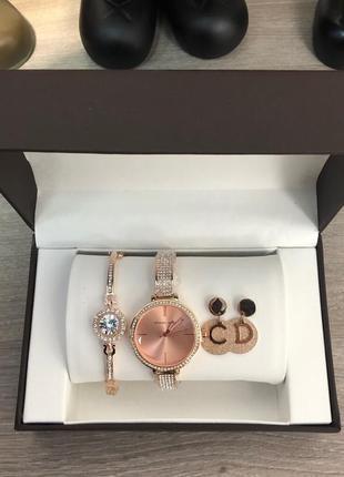 Женский подарочный набор - часы, браслет, серьги
