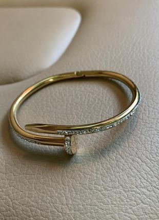 Женский браслет juste un clou bracelet yellow gold all diamonds