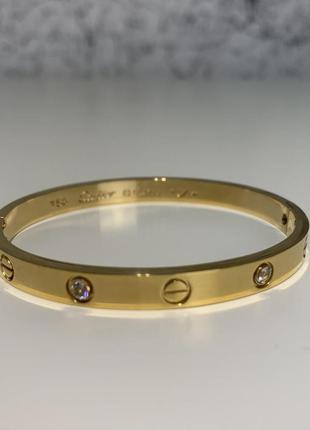 Женский браслет love bracelet, 4 diamonds 16 yellow gold